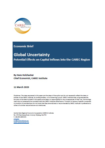 Economic Brief: Global Uncertainty and Potential Effects on Capital Inflows into CAREC